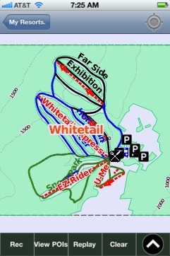 Whitetail, PA ski map - iPhone Ski App