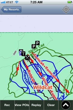 Wildcat ski map - iPhone Ski App