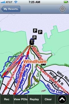 Windham ski map - iPhone Ski App
