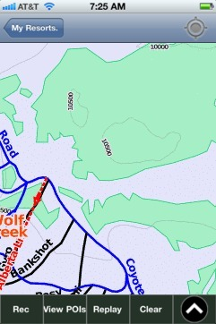 Wolf Creek ski map - iPhone Ski App
